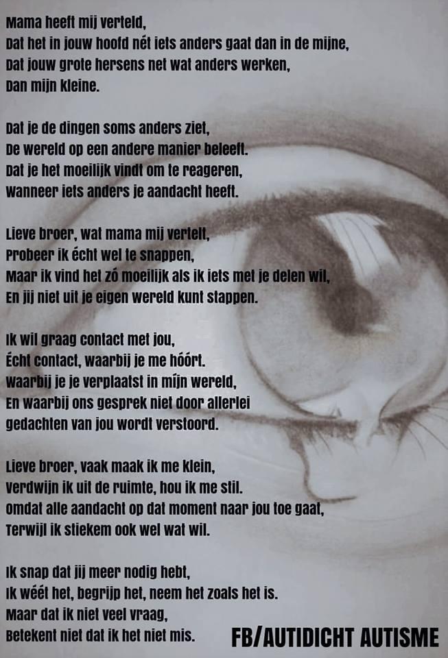 Gedicht Over Autisme